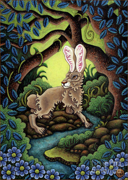 Painting - Blue Hare Lagoon by Amy E Fraser