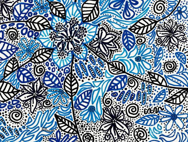 Wall Art - Drawing - Blue Hawaii by A Hillman