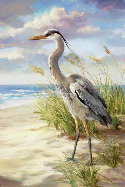 Hospital Wall Art - Painting -  Blue Heron Left by Laurie Snow Hein
