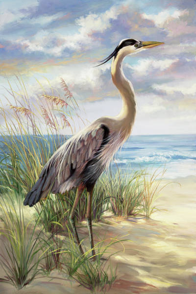 Wall Art - Painting - Blue Heron Right by Laurie Snow Hein