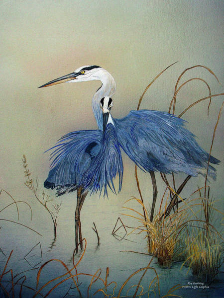Painting - Blue Herons Pinot Gris by Roy Kastning