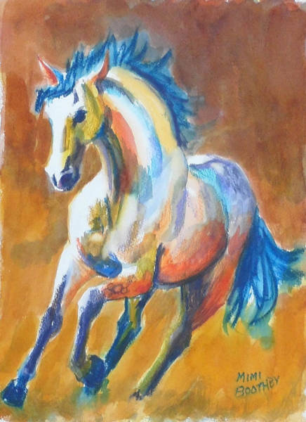 Painting - Blue Horse by Mimi Boothby