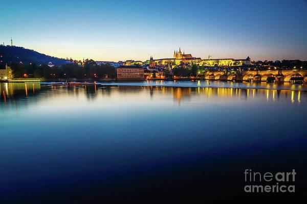 Wall Art - Photograph - Blue Hour In Prague by DAC Photo