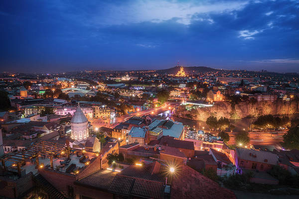Wall Art - Photograph - Blue Hour In Tbilisi by Adrian Malanca