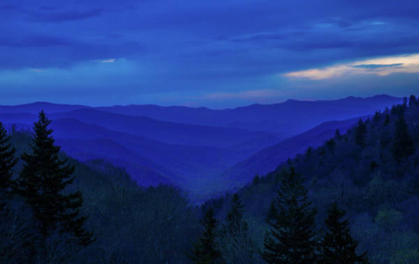 Photograph - Blue Hour In The Smoky Mountains by Dan Sproul