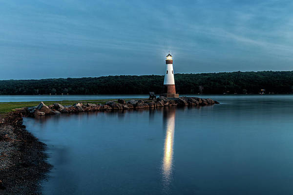 Photograph - Blue Hour Lighthouse by Rod Best
