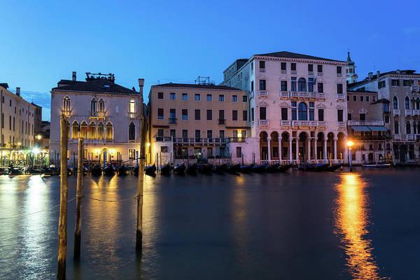 Wall Art - Photograph - Blue Hour On The Grand Canal - Canalazzo Venice Italy by Georgia Mizuleva