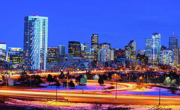 Blue Hour Over Denver Art Print