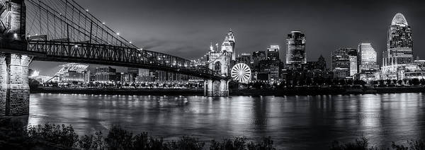 Photograph - Blue Hour Pano Monochromatic  by Christina DeAngelo