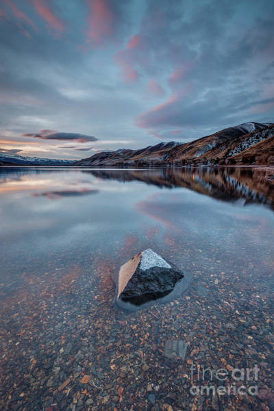 Wall Art - Photograph - Blue Hour Rock At Topaz Lake by Jeff Sullivan