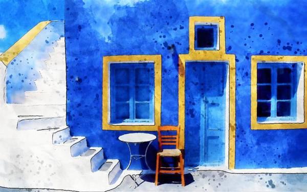 Wall Art - Painting - Blue House by ArtMarketJapan