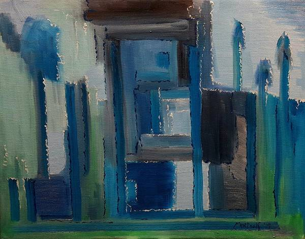 Painting - Blue House by Dave Martsolf