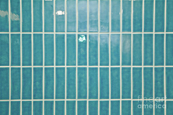 Wall Art - Photograph - Blue Interior Tiles by Tom Gowanlock