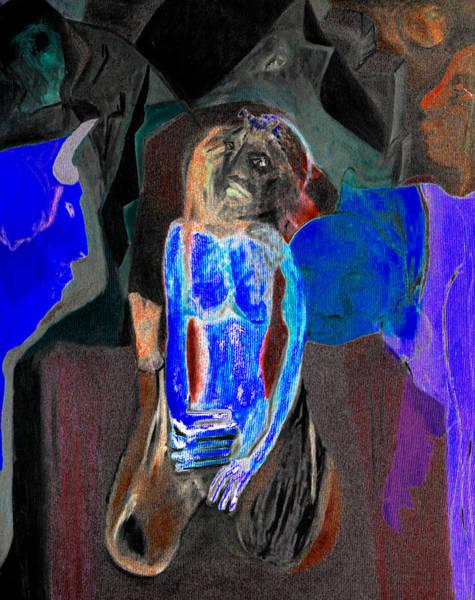 Digital Art - Blue Invaders by Artist Dot