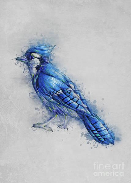 Digital Art - Blue Jay by Ian Mitchell