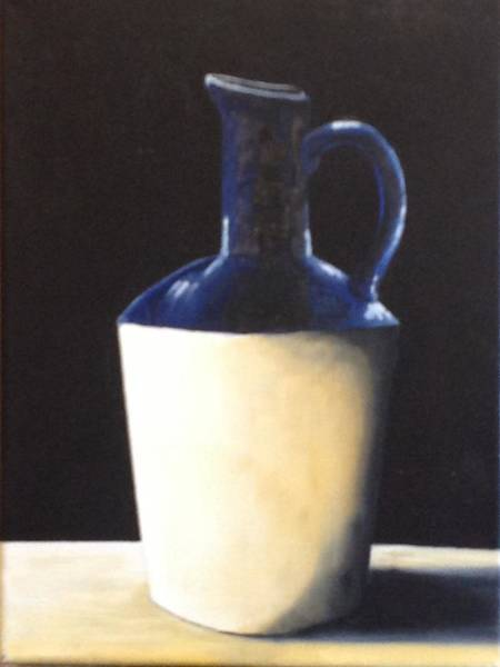 About Face Painting - Blue Jug by Martin Schmidt