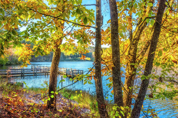 Photograph - Blue Lake In Autumn by Debra and Dave Vanderlaan