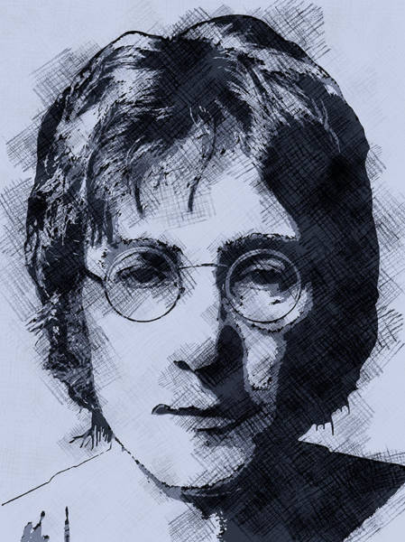 Wall Art - Digital Art - Blue Lennon by Daniel Hagerman