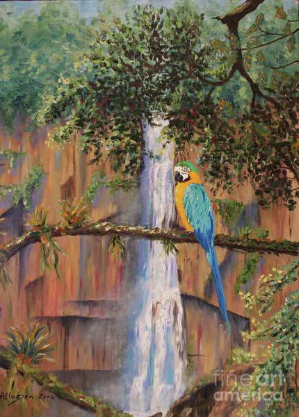 Painting - Blue Macaw by Stanton Allaben