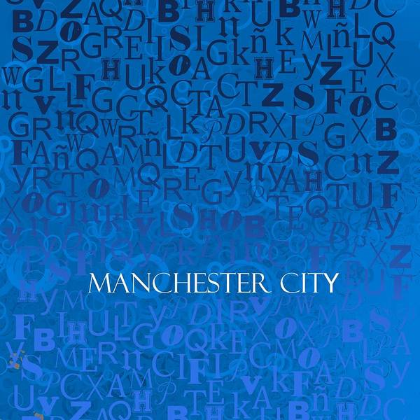 Digital Art - Blue Manchester by Alberto RuiZ