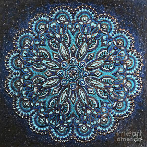 Painting - Blue Mandala by Amy E Fraser
