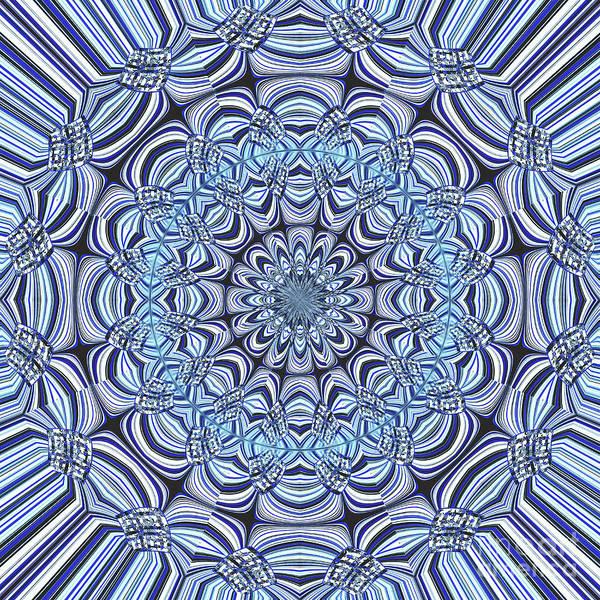 Wall Art - Digital Art - Blue Mandala by Gaspar Avila