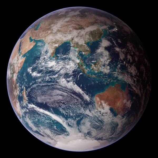 Wall Art - Painting - Blue Marble Eastern Hemisphere by Celestial Images