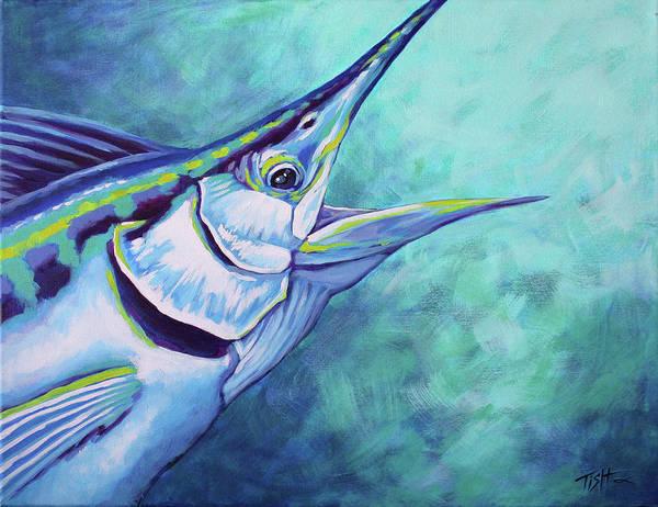 Painting - Blue Marlin by Tish Wynne