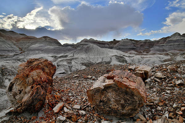 Photograph - Blue Mesa Sunset In Petrified Forest Np by Ray Mathis