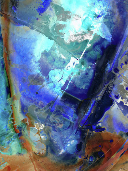 Painting - Blue Modern Abstract Art - After The Storm - Sharon Cummings by Sharon Cummings