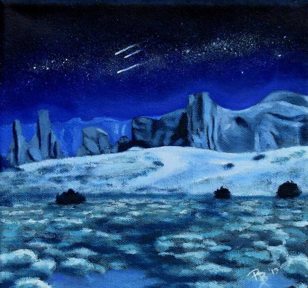 Star Formation Painting - Blue Monuments by Rachel Beck