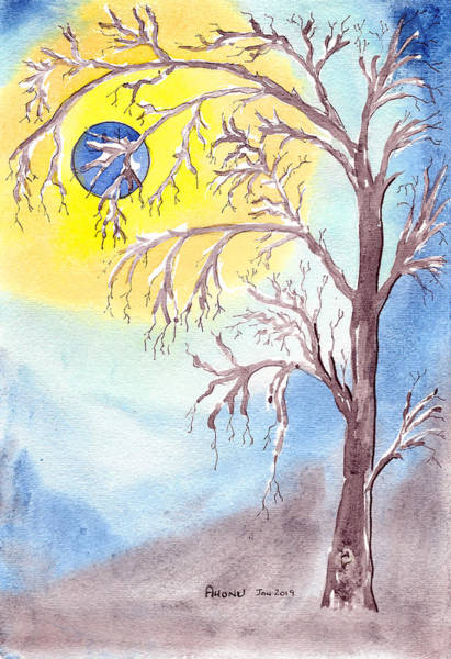 Painting - Blue Moon by Ahonu