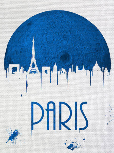 City Scape Digital Art - Blue Moon Drips Over Paris by Tim Palmer