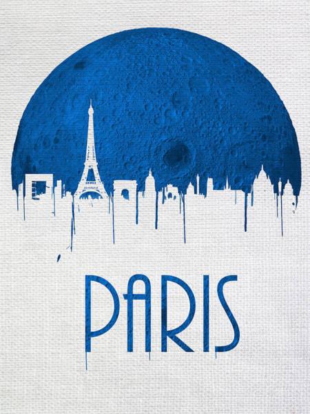 City Scape Digital Art - Blue Moon Over Paris by Tim Palmer