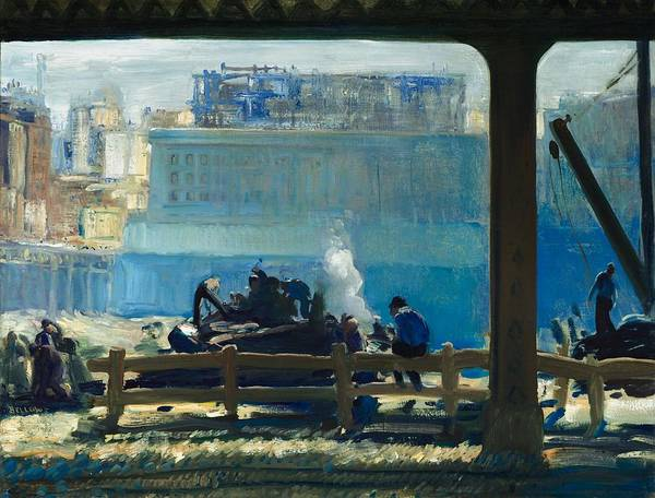 Wall Art - Painting - Blue Morning by George Wesley Bellows