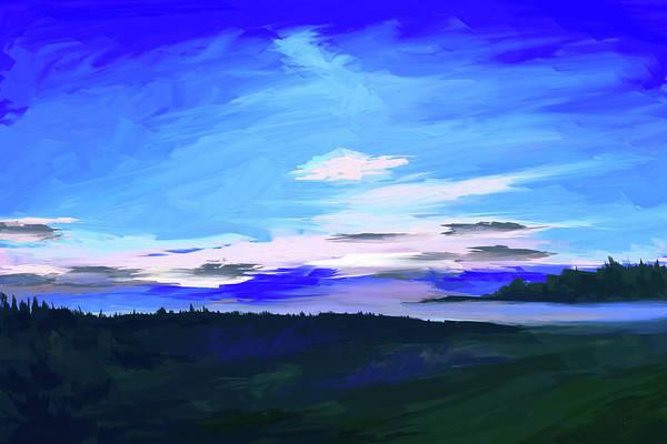 Digital Art - Blue Morning by Tanja Udelhofen