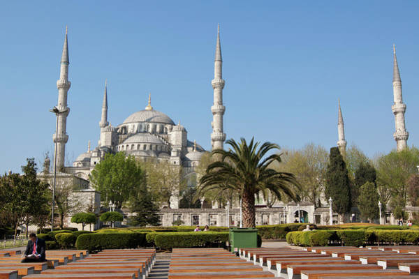 Looking Down Photograph - Blue Mosque by Robert Muckley