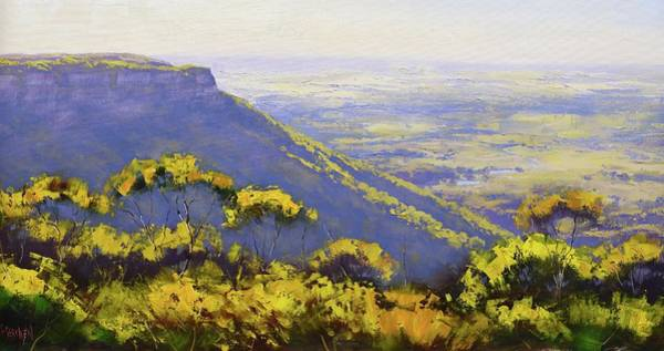 Wall Art - Painting - Blue Mountains Australia by Graham Gercken