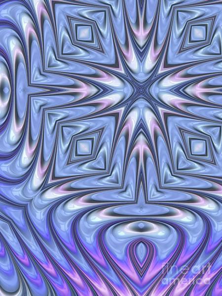 Wall Art - Digital Art - Blue Nacre by John Edwards