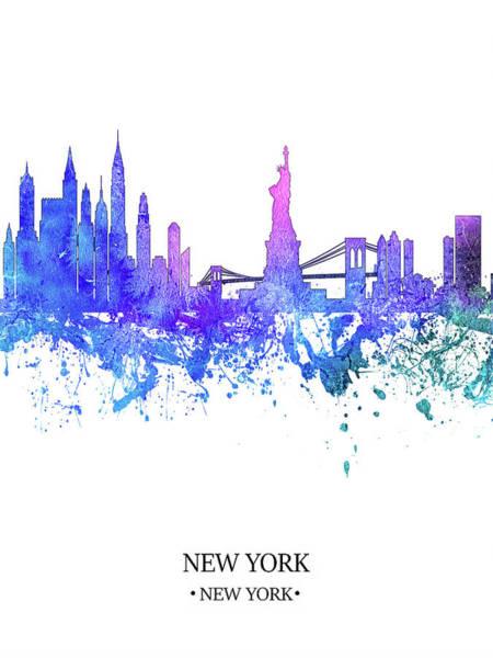 City Scape Digital Art - Blue New York by Tim Palmer