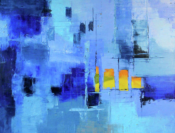 Wall Art - Painting - Blue Note Two by Nancy Merkle