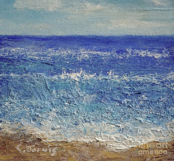 Painting - Blue Ocean by Carolyn Jarvis