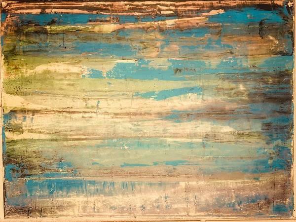 Avondet Wall Art - Painting - Blue On Brown by Natalie Avondet