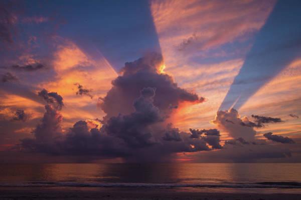 Blue Orange Sunset Art Print