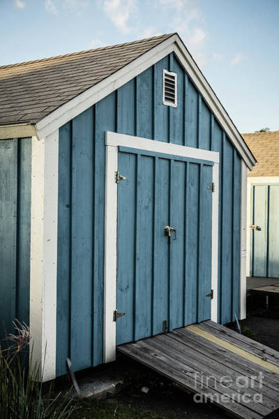 Photograph - Blue Painted Boat House by Edward Fielding