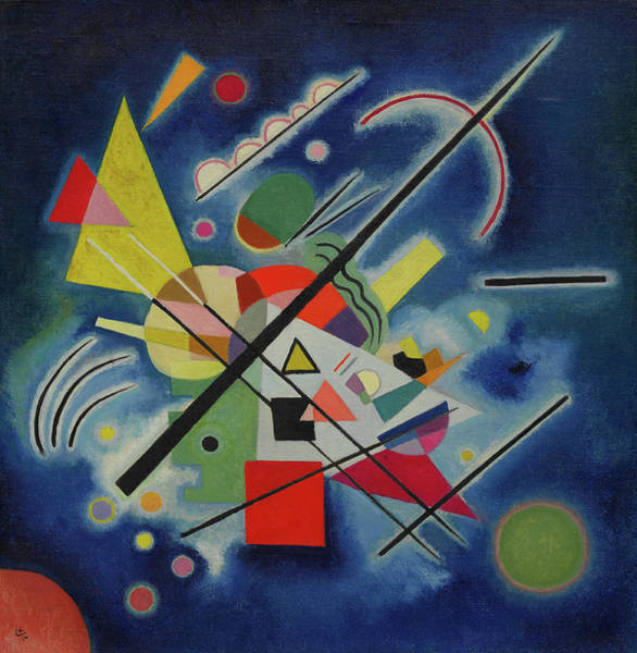 Visual Illusion Wall Art - Painting - Blue Painting - Blaues Bild by Wassily Kandinsky