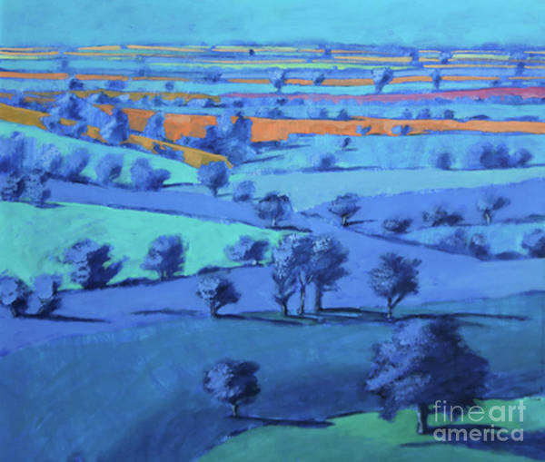 Fresh Paint Painting - Blue Painting Close Up by Paul Powis