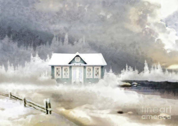 Wall Art - Painting - Blue Pines Cottage by Mo T