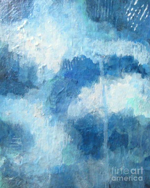 Wall Art - Painting - Blue Play by Kate Marion Lapierre