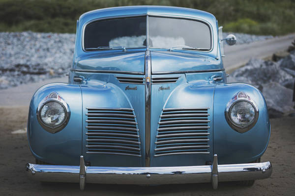 Art Print featuring the photograph Blue Plymouth by Elliott Coleman